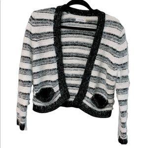 Calvin Klein Eyelash Striped Cardigan